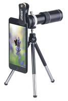 Vorsatz-Tele-Objektiv 20x CVL-200.tel für Smartphones, Aluminium-Gehäuse und Stativ