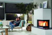 Schmaler Heizkamin mit Speicher - Feuer und Wärme auf kleinstem Raum