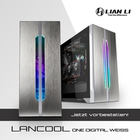 JETZT bei Caseking vorbestellbar - Der elegante Lian Li LANCOOL ONE Digital White Edition Midi-Tower.