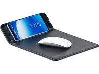 Mauspad mit Induktions-Ladestation für Qi-kompatible Smartphones, 1 A