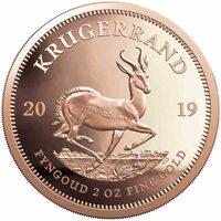 Krügerrand Goldmünze 2019: jetzt auch mit doppeltem Gewicht: 2 Unzen
