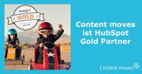 Inbound Agentur Content moves ist HubSpot Gold Partner