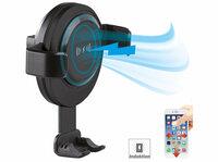 Callstel Kfz-Smartphone-Ladehalter für Lüftungsgitter