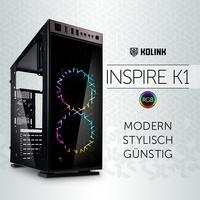NEU bei Caseking - Kolink Inspire K1: Budget-Gehäuse mit beeindruckender Optik