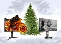 Macht Platz unter dem Weihnachtsbaum - für Gaming-Monitore der G1-Serie von AOC