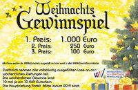Einkaufen in Weilburg: Ab 1.12.-29.12.2018 bis zu 1.000 Euro gewinnen!