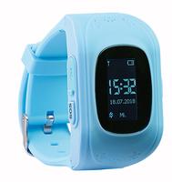 Kinder-Smartwatch PW-110.kids mit Telefon- und SOS-Funktion, GPS-/LBS-Tracking, blau
