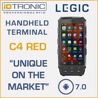 Pressemitteilung: iDTRONICs Handheld Computer: C4 Red - Weltneuheit: Erstes mobiles Android 7.0 Lesegerät mit LEGIC Funktion