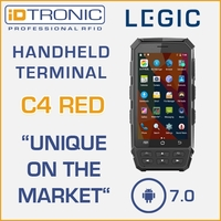 "iDTRONIC""s Handheld Computer: C4 Red - World Innovation: First mobile Android 7.0 Reader with LEGIC Functionality"