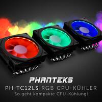 NEUHEIT bei Caseking - Kompakter PHANTEKS PH-TC12LS Top-Blow-Kühler mit eindrucksvoller RGB-Beleuchtung.