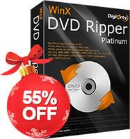 Digiarty Weihnachtsgutschein 2018 - 55% Rabatt auf WinX DVD Ripper Platinum