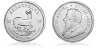 Krügerrand Münze 2019 jetzt auch in Silber verfügbar