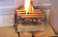 Von unten, von oben - so wird das Feuer im Ofen entfacht