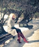 Modische Damenstiefel Größe 43 für kalte Wintertage