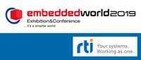RTI hält zwei Vorträge auf der embedded world Conference 2019