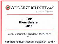 Auszeichnung: Competent Investment Management ist einer der Top Dienstleister 2018