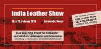 India Leather Show am 19. + 20. Februar 2019 in Neuss