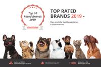 Top Rated Brands 2019 - Das neue Gütesiegel für die bestbewerteten Futtermarken