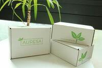 AURESA Online-Teeshop liefert mit GoGreen ins Haus