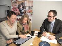 Mama Mia Erlangen - Stadtspitze besucht die neuen Räumlichkeiten