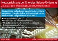 Energieeffizienz-Förderung wird neu ausgerichtet