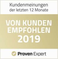 VON KUNDEN EMPFOHLEN: 2019! Auszeichnung für Englisch nach Maß®