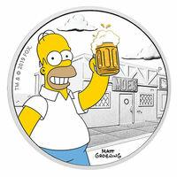 showimage Homer Simpson auf australischer Silbermünze in Deutschland nachgefragt