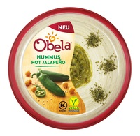 "Hummus-Experte Obela überrascht mit ""Hot Jalapeno"" und ""Kalamata Oliven"""