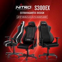 BRANDNEU bei Caseking - Der Gaming Stuhl Nitro Concepts S300 EX: Jetzt mit Kunstleder und verbessertem Design