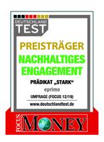 """Nachhaltiges Engagement: eprimo mit Prädikat """"Stark"""" ausgezeichnet"""