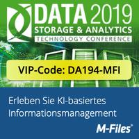 M-Files zeigt KI-basiertes Dokumentenmanagement auf der DATA Storage & Analytics 2019