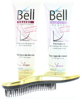 HairBell Shampoo + Conditioner plus gratis DeTangler