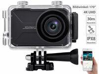 Somikon 4K-Action-Cam DV-3917 V2 mit GPS und WLAN, IPX8