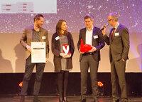 Verleihung mediaV-Award Online Kommunikation durch GRÜN