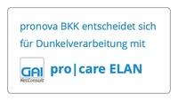 pronova BKK entscheidet sich für Dunkelverarbeitung mit pro|care ELAN