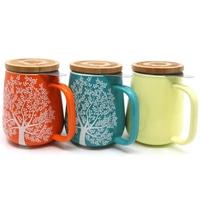 showimage Neu für Teetrinker, Keramik Teetasse mit Sieb und Deckel