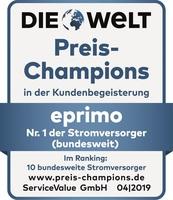 """eprimo erneut """"Preis-Champion"""" bei Strom und Gas"""