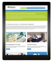 Website PU-Schaum-Infocenter mit neuer Struktur