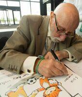 """""""Liebe ist...""""- Comic-Zeichner Bill Asprey entwirft besondere Sticker für das Fußball für Freundschaft Programm"""