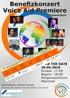 Benefizkonzert der Voice Aid Association e.V. hat Premiere in Schweinfurt