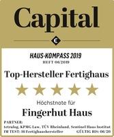 """showimage Fingerhut Haus ist Top-Hersteller: Fünf Sterne gemäß """"Capital Haus-Kompass"""""""