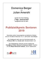 Publizistikpreis Alter zum 13. Mal verliehen - Die Preisträger