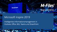 M-Files präsentiert KI-gestütztes Informationsmanagement für Office 365 auf der Microsoft Inspire 2019