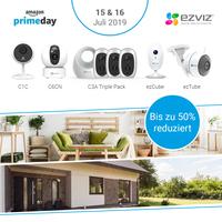 EZVIZ Sicherheitskameras - Zum Amazon Prime Day eine Vielzahl von Kameramodellen bis zu 50 Prozent reduziert