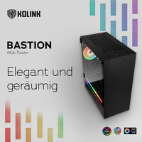 NEU bei Caseking - Kolink Bastion Midi-Tower: Funktionalität elegant präsentiert