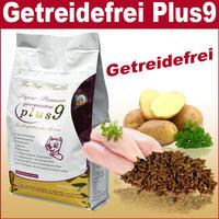 9 x Plus - Getreidefreies Katzenfutter Trockenfutter Plus 9