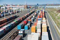 Nürnbergs Container-Terminal: Hauch von großer, weiter Welt