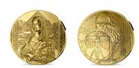 Mona Lisa aus 1 Kilogramm Gold