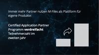 Partner entwickeln erfolgreich eigene Lösungen auf der M-Files-Plattform für intelligentes Informationsmanagement