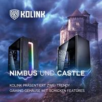 Nimbus und Castle: Kolink präsentiert zwei trendy Gaming-Gehäuse mit schicken Features